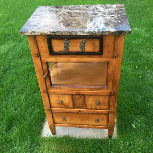 French Marble Top Cabinet image-1