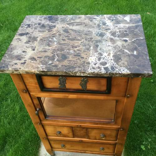 French Marble Top Cabinet image-6