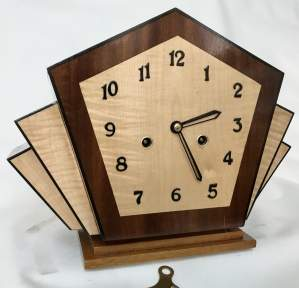 Unique 8 Day Ting Tang Striking Clock in the Art Deco Style