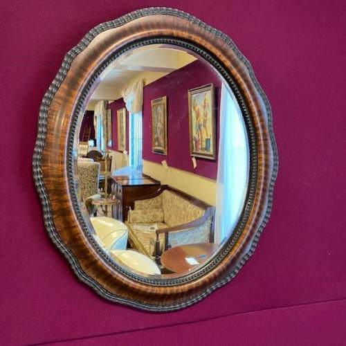 19th Century Oval Wall Mirror image-1
