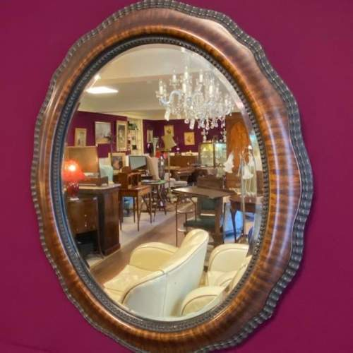 19th Century Oval Wall Mirror image-2