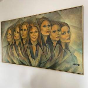 Large Painting by Martin Wieland 1985