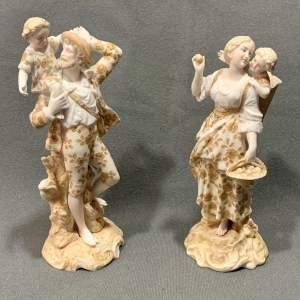 Pair of 19th Century German Porcelain Figurines