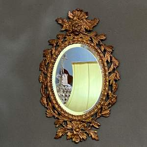 Decorative Oval Cast Iron Wall Mirror