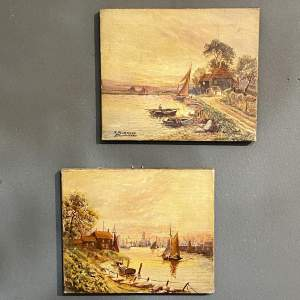 Pair of 19th Century Small Oil Paintings