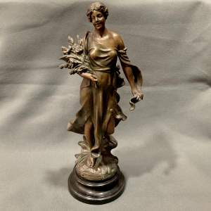 Spelter Figure by A. J. Scott Circa 1900