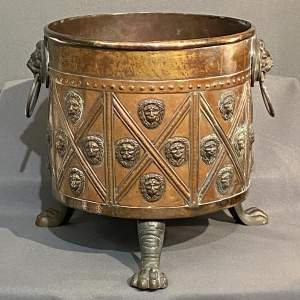 Georgian Brass And Copper Log Bin