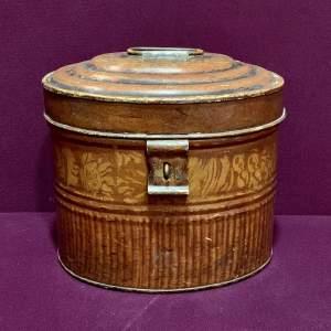 Victorian Toleware Hat Tin