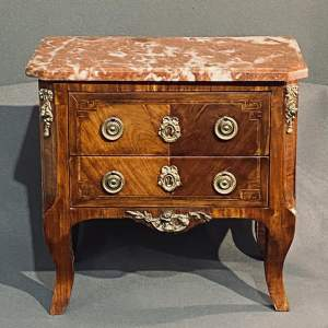 French Louis XVI Style Miniature Mahogany Commode Chest