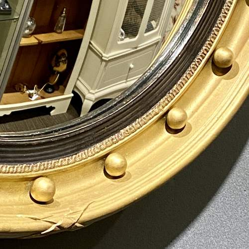 Large Vintage Convex Fish Eye Wall Mirror image-2