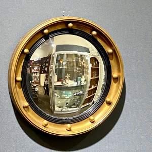 Vintage Convex Fish Eye Wall Mirror