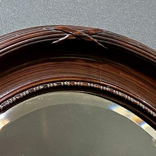 Large Oval Faux Tortoiseshell Wall Mirror image-2