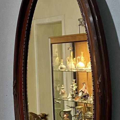 Large Oval Faux Tortoiseshell Wall Mirror image-4