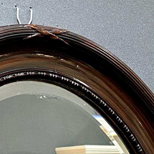 Oval Faux Tortoiseshell Wall Mirror image-2
