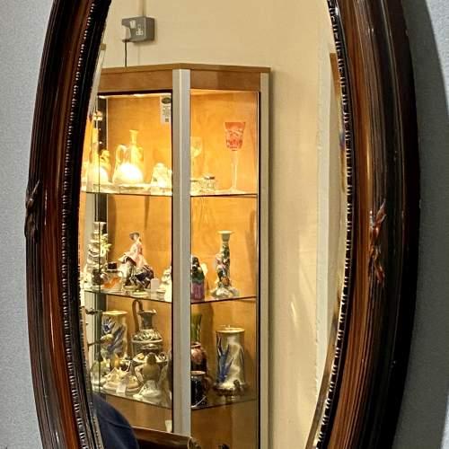 Oval Faux Tortoiseshell Wall Mirror image-4