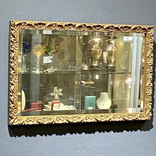 Small Giltwood Framed Rectangular Wall Mirror image-1