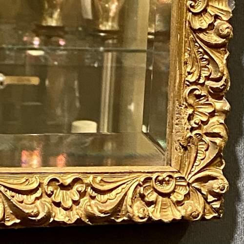 Small Giltwood Framed Rectangular Wall Mirror image-2