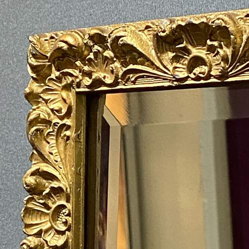Small Giltwood Framed Rectangular Wall Mirror image-3