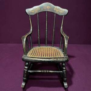 19th Century Ebonised Childs Rocking Chair