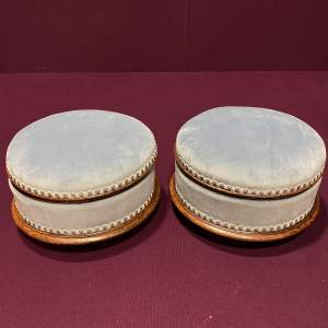 Pair of Victorian Upholstered Footstools