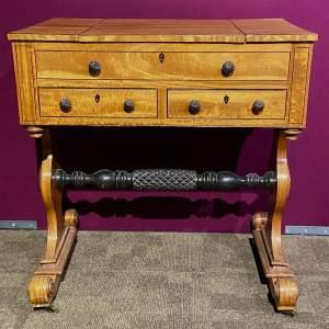 Regency Period Satinwood Vanity Table