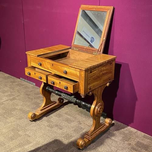 Regency Period Satinwood Vanity Table image-2