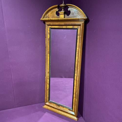 19th Century Continental Mahogany Framed Pier Glass Mirror image-1