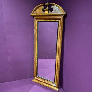 19th Century Continental Mahogany Framed Pier Glass Mirror