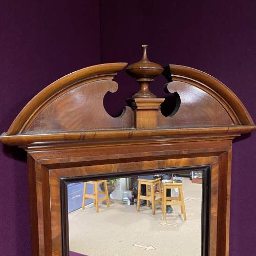 19th Century Continental Mahogany Framed Pier Glass Mirror image-3