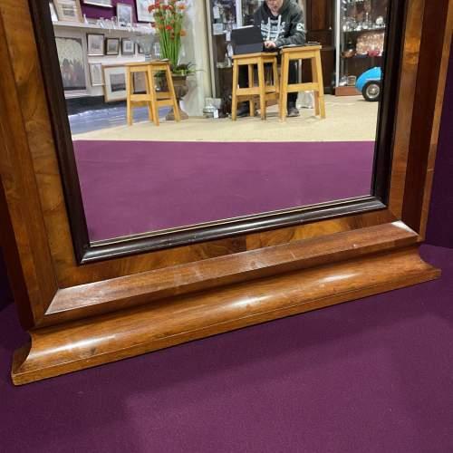 19th Century Continental Mahogany Framed Pier Glass Mirror image-4
