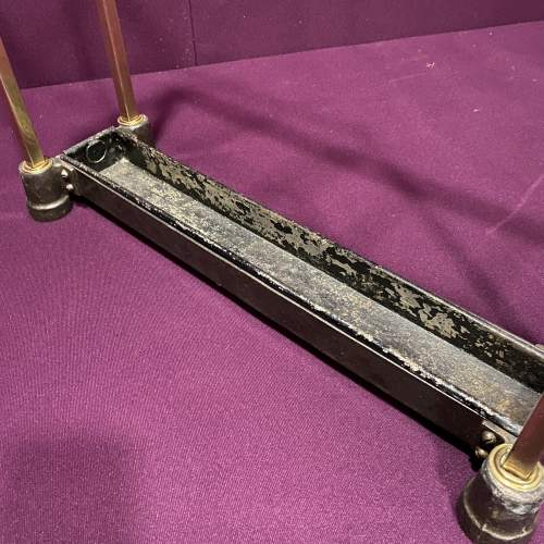 Art Deco Brass and Cast Iron Stick Stand image-4