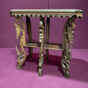 Antique Carved Hardwood Table