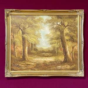 A Woodland Glade Oil on Canvas Painting