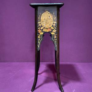 Japanese Inspired Ebonised Plant Stand