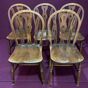 Set of Five 19th Century Windsor Kitchen Chairs