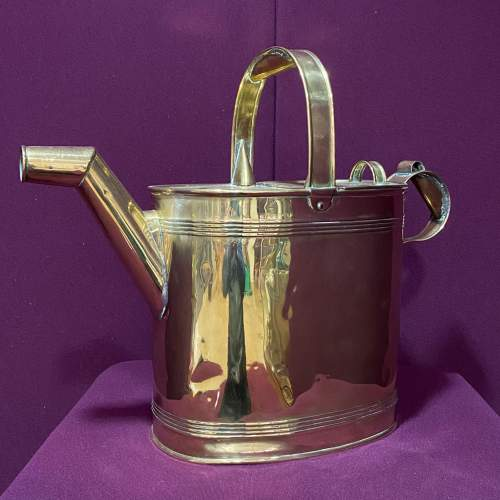 Large Sized Victorian Brass Watering Can image-1