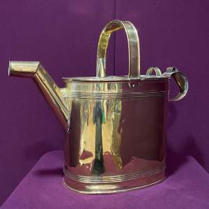 Large Sized Victorian Brass Watering Can