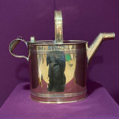 Large Sized Victorian Brass Watering Can image-3