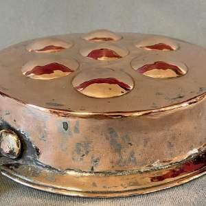 Vintage French Copper Escargot Pan