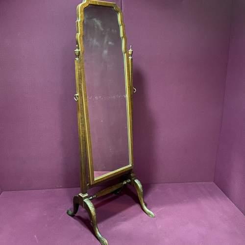 Edwardian Mahogany Cheval Mirror image-1