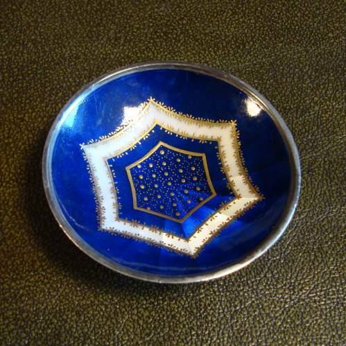 Sterling Silver Enamel Dish image-1