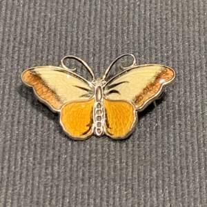 Norwegian Silver and Enamel Butterfly Brooch