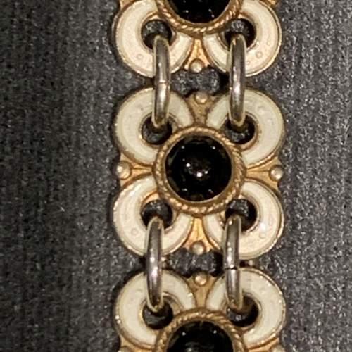 Silver Gilt and White Enamelled Bracelet by David Andersen image-2