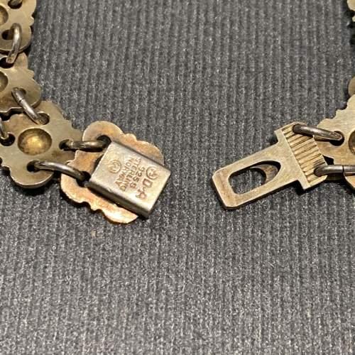 Silver Gilt and White Enamelled Bracelet by David Andersen image-4