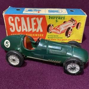 Scalex Rare Ferrari Tin Plate Racing Car