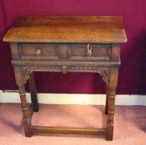 Titchmarsh and Goodwin Oak Side Table