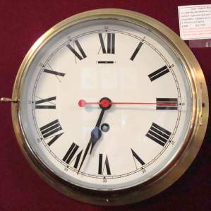 Ships Brass Bulkhead Clock by Smiths of Enfield