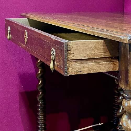 Early 18th Century Oak Side Table image-2