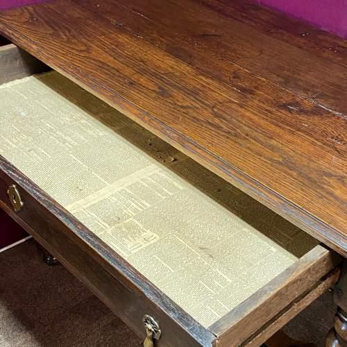 Early 18th Century Oak Side Table image-3