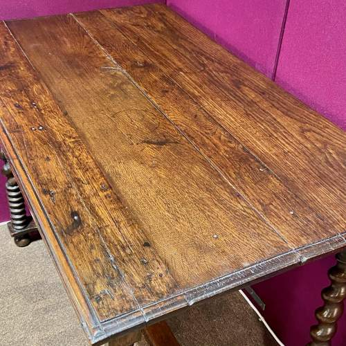 Early 18th Century Oak Side Table image-6